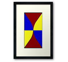 Primary Hourglass Framed Print