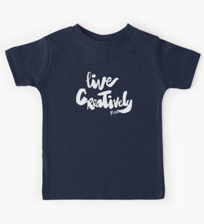 Live Creatively : Dark Kids Tee