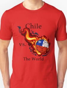 World Cup - Chile Versus the World Flaming Football T-Shirt