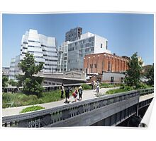 Frank Gehry Architecture on the  High Line, New York City's Elevated Garden and Park  Poster