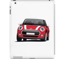 Mini Cooper S (Mini Hatch illustration) red - white iPad Case/Skin