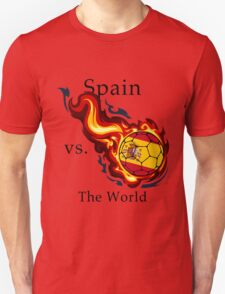 World Cup - Spain Versus the World Flaming Football T-Shirt