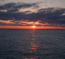Sun Set over the North sea by Keith Larby