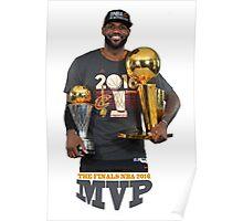 """LeBron """"The King"""" James NBA 2016 MVP Poster"""