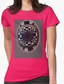 Fibonacci in Grey. Goth Style Womens Fitted T-Shirt