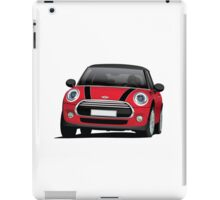 Mini Cooper S (Mini Hatch illustration) red - black iPad Case/Skin