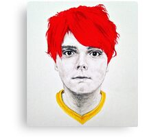 Gerard Way Red & Yellow Canvas Print