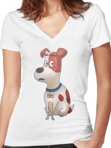 The secret life of pets - Max Women's Fitted V-Neck T-Shirt