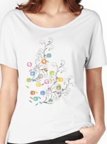My Groovy Flower Garden Women's Relaxed Fit T-Shirt