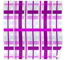 gingham plaid fabric Poster