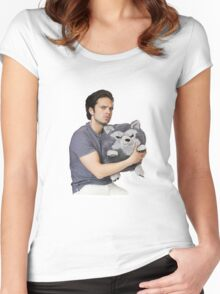 Sebastian Stan Women's Fitted Scoop T-Shirt