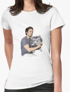 Sebastian Stan Womens Fitted T-Shirt