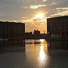 Albert Dock Sunset by John Thurgood