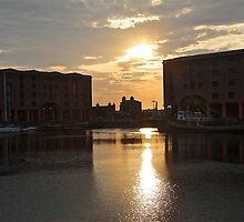 Albert Dock Sunset by John Thurgood