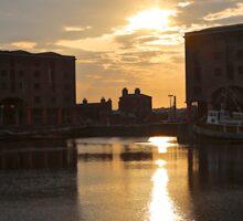 Albert Dock Sunset Sticker