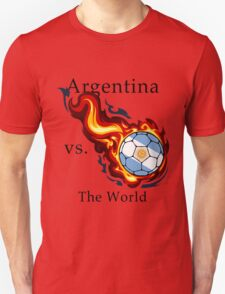 World Cup - Argentina Versus the World Flaming Football T-Shirt