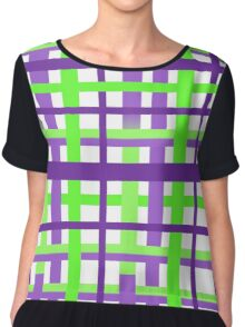 Scottish Plaid Seamless Vector Pattern Chiffon Top