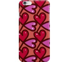 Cute valentine's seamless pattern with hearts iPhone Case/Skin