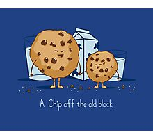 Chip Off the Old Block Photographic Print