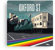 Oxford Street Rainbow Crossing Canvas Print