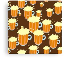Pattern Food and drinks Canvas Print