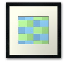 Checkered tablecloth seamless pattern Framed Print