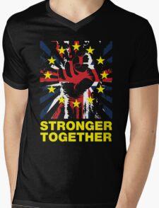 Stronger Together, UK Pro EU T-shirt Mens V-Neck T-Shirt