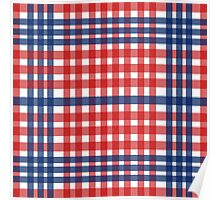 Red patterns tablecloths stylish  Poster