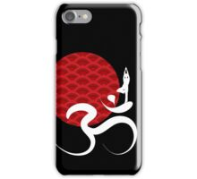 Red Sun, Yoga and Om iPhone Case/Skin