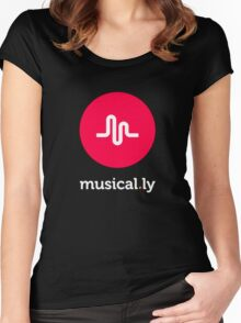 i love music t-shirt,musical.ly Women's Fitted Scoop T-Shirt