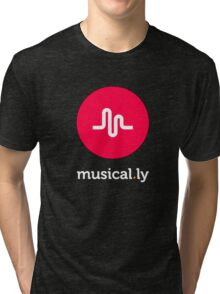 i love music t-shirt,musical.ly Tri-blend T-Shirt
