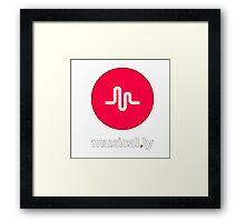 i love music t-shirt,musical.ly Framed Print