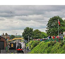 War On The Line - Twin Spits - Ropley - HDR Photographic Print