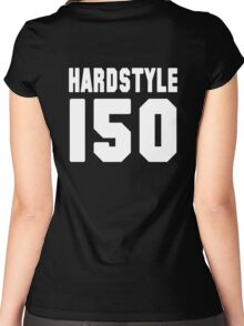 Hardstyle Football (White) Women's Fitted Scoop T-Shirt