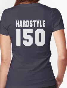 Hardstyle Football (White) Womens Fitted T-Shirt