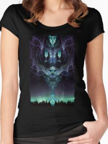 Midnight Aura Women's Fitted Scoop T-Shirt