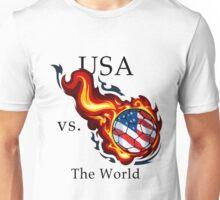 World Cup - USA Versus the World Flaming Football Unisex T-Shirt