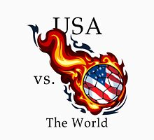 World Cup - USA Versus the World Flaming Football Unisex T-Shirt