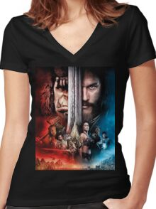 warcraft Women's Fitted V-Neck T-Shirt