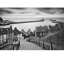Whitby Steps Mono Photographic Print