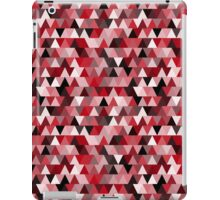 red repeating triangle pattern iPad Case/Skin