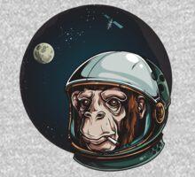 Space Monkey Astronaut Chimp One Piece - Long Sleeve