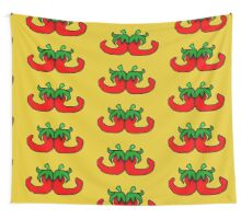 Back 2 Back Chillies Wall Tapestry