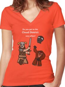 F*ck the Cloud District! Women's Fitted V-Neck T-Shirt