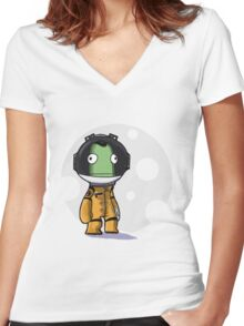 kerbal Women's Fitted V-Neck T-Shirt