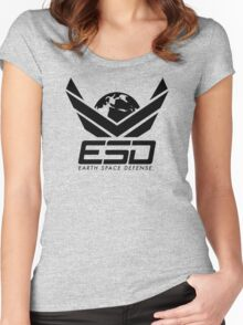 Earth Space Defense (global) Women's Fitted Scoop T-Shirt
