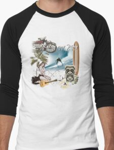 retro beach Men's Baseball ¾ T-Shirt