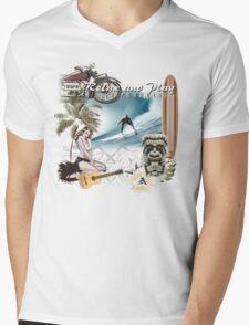 retro beach Mens V-Neck T-Shirt