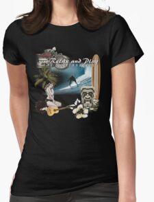 retro beach Womens Fitted T-Shirt