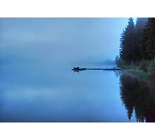 Lonely Lake in Mist Photographic Print